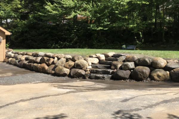 Boulder Wall & Granite Steps