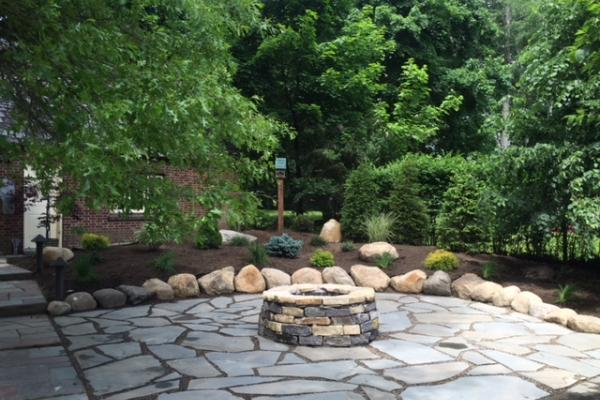 Fire Pit & Flagstone Patio - Johnstown NY