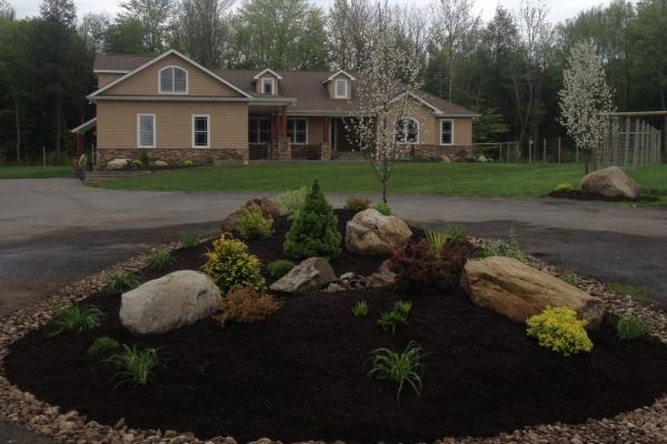 Driveway Island Landscaping