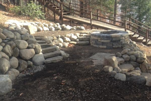 Granite & Southbay Quartzite Firepit