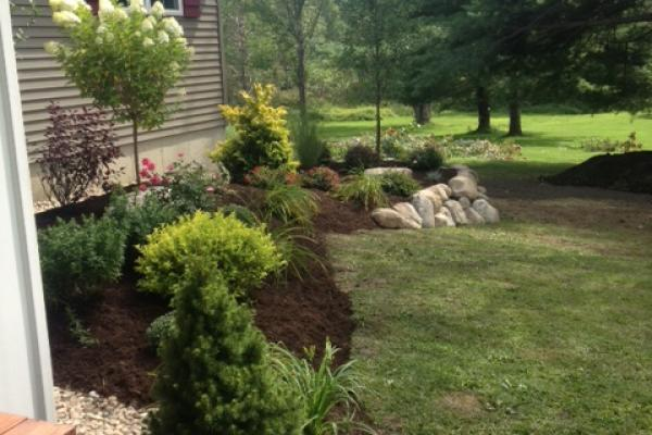 Residential Landscaping & Boulder Wall