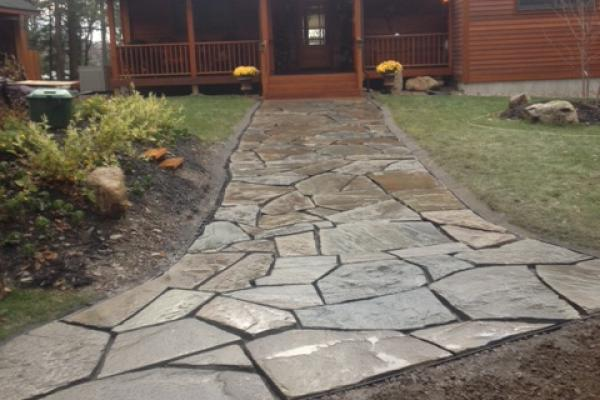 New Flagstone Walkway before Completion