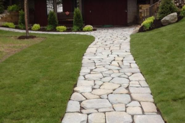 Bluestone Walkway, New Sod & Landscaping