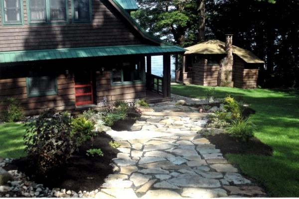 Adirondack Walkway and Landscaping